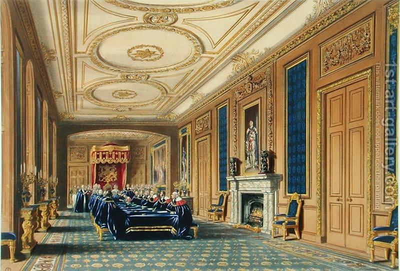 the throne room windsor castle the installation of the order of the garter 1st art gallery. Black Bedroom Furniture Sets. Home Design Ideas