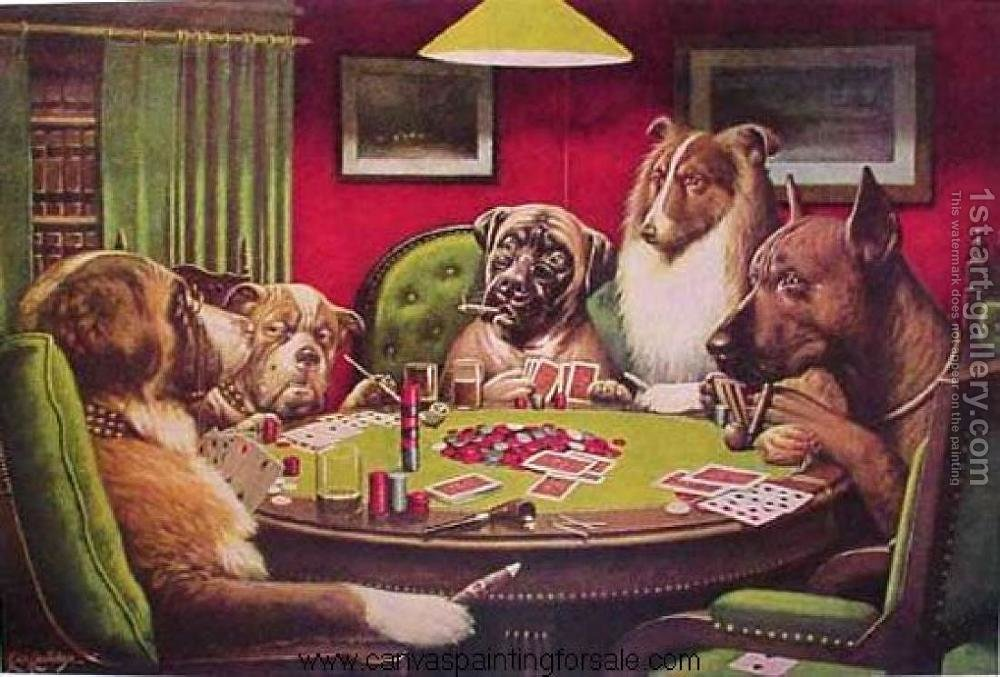 Poker dogs picture for sale casino poker bowl
