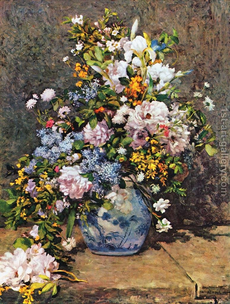 Bouquet of spring flowers pierre auguste renoir reproduction 1st bouquet of spring flowers by pierre auguste renoir reproduction oil painting mightylinksfo