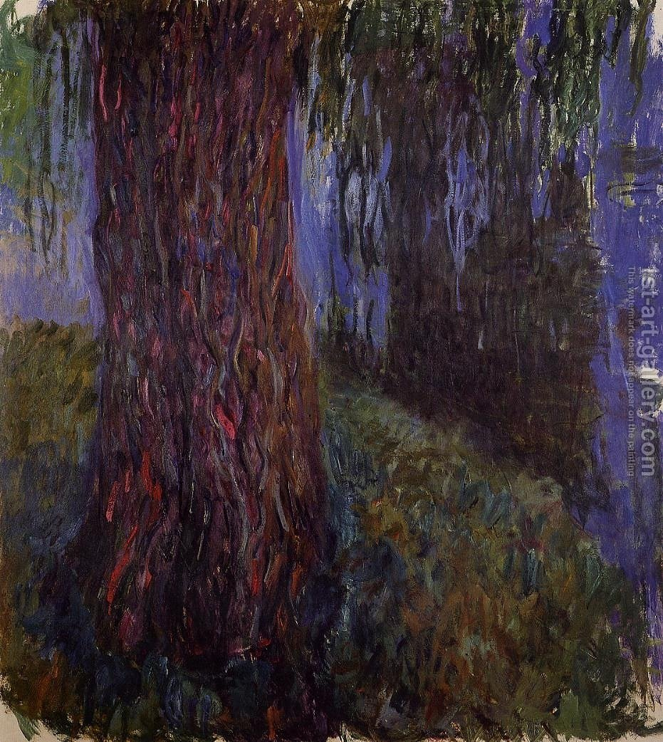 Water Lily Garden With Weeping Willow By Claude Oscar Monet   Reproduction  Oil Painting