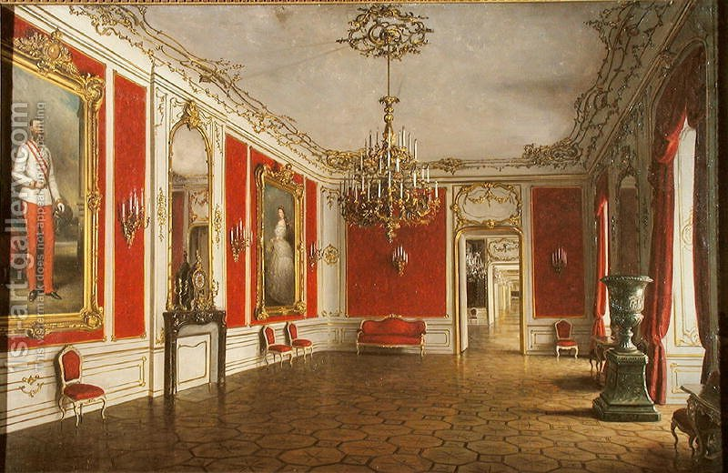 The Reception Room Of The Hofburg Palace Vienna J