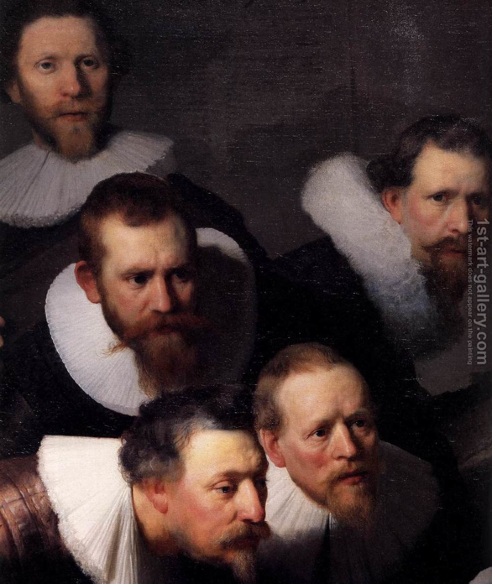 The Anatomy Lecture of Dr. Nicolaes Tulp (detail) Rembrandt ...