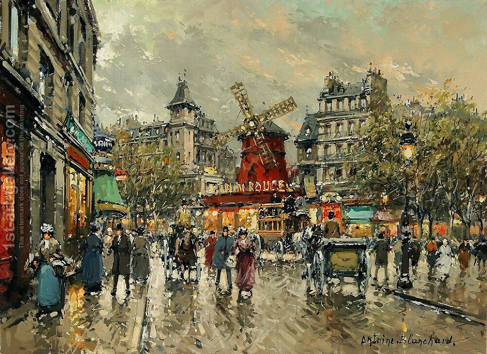 Le Moulin Rouge Place Blanche a Montmartre Agost Benkhard ...