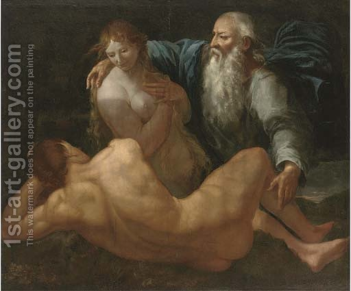 the creation of adam and eve after giulio carpioni reproduction