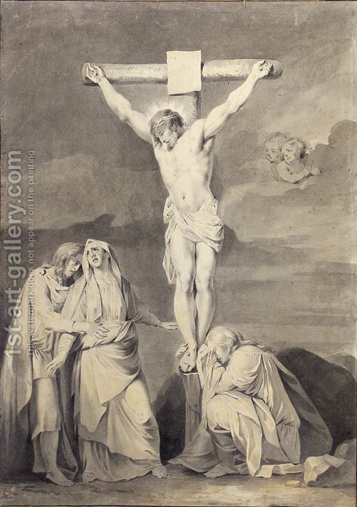 The Crucifixion With The Virgin Saint John And Mary Magdalene Sara