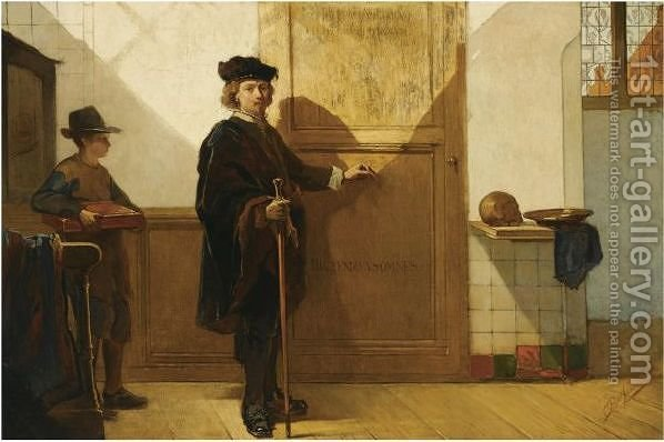 Rembrandt On His Way To The Anatomical Lesson Of Dr Tulp