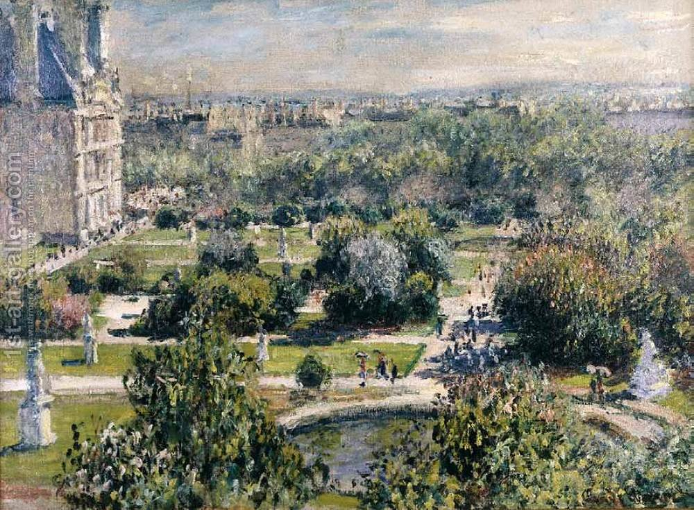 view of the tuileries garden by claude oscar monet reproduction oil painting - Tuileries Garden