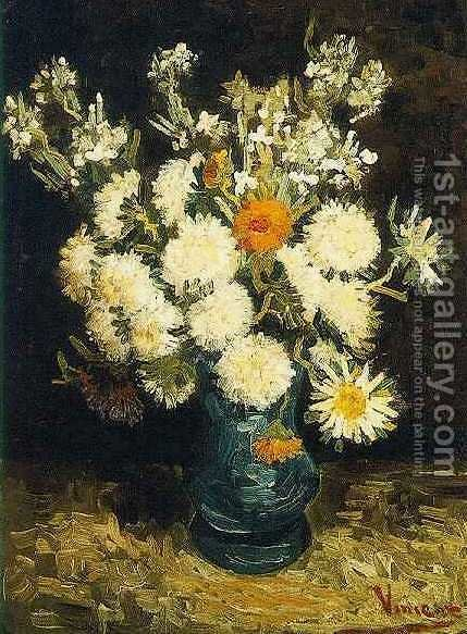 Flowers In A Blue Vase Vincent Van Gogh Reproduction 1st Art Gallery