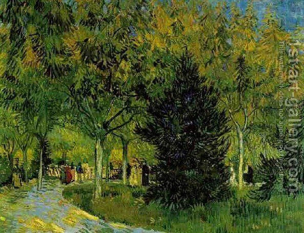 Lane In The Public Garden At Arles A By Vincent Van Gogh   Reproduction Oil  Painting