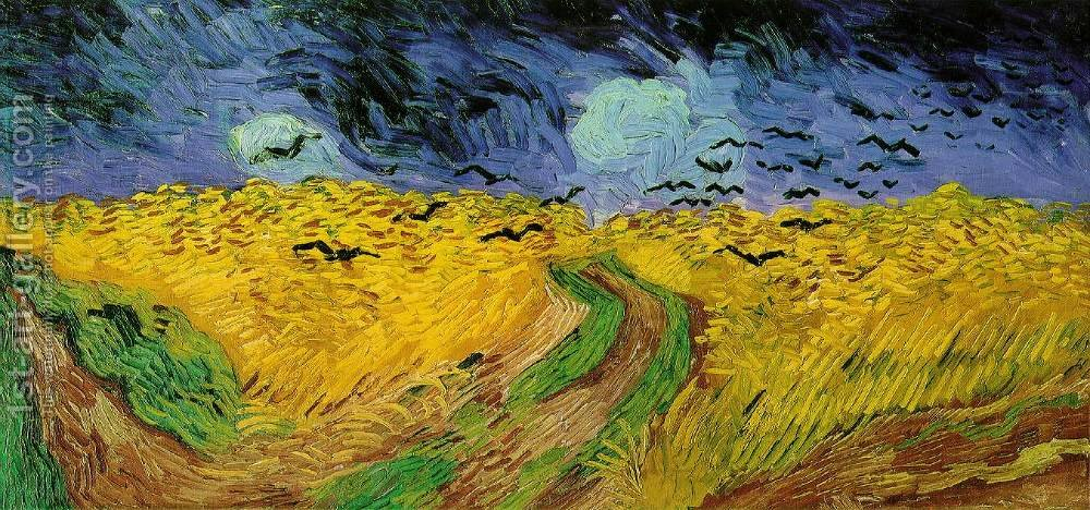 Wheat Field With Crows Vincent Van Gogh Reproduction   1st Art Gallery