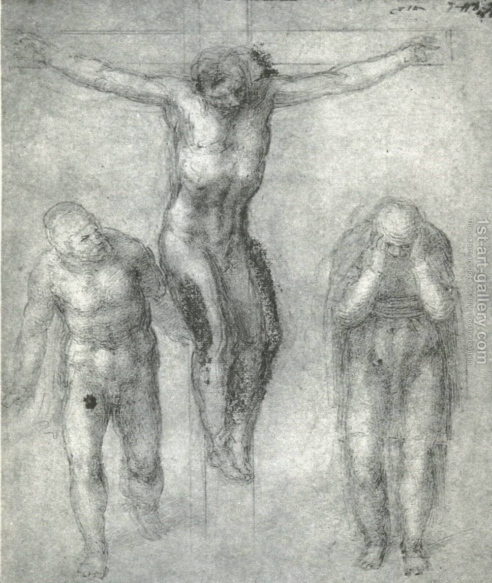 Study For Christ On The Cross With Mourners Michelangelo