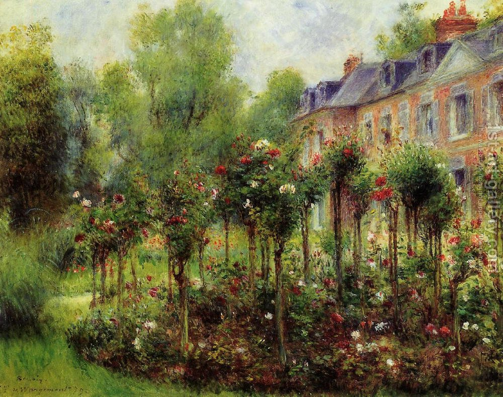 The Rose Garden At Wargemont Pierre Auguste Renoir Reproduction ...