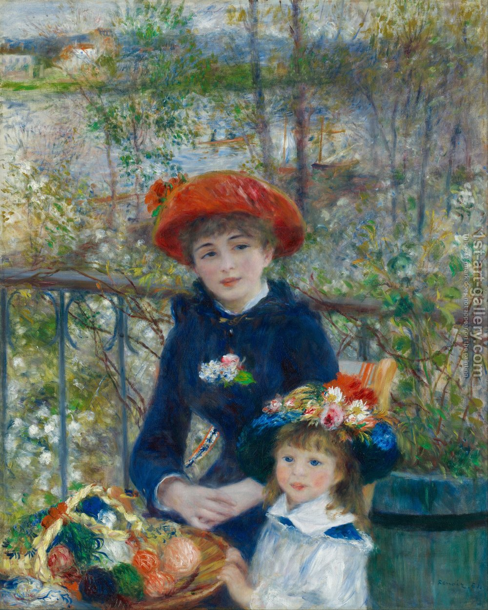 famous paintings of children two sisters aka on the terrace - Children Painting Pictures