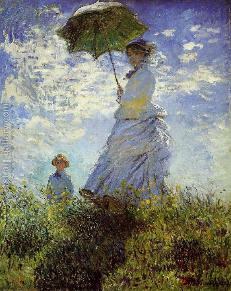 Famous Paintings Of People The Walk Woman With A Parasol