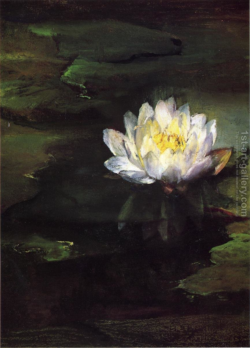 Water lily study from nature john la farge reproduction 1st art water lily study from nature by john la farge reproduction oil painting izmirmasajfo Gallery
