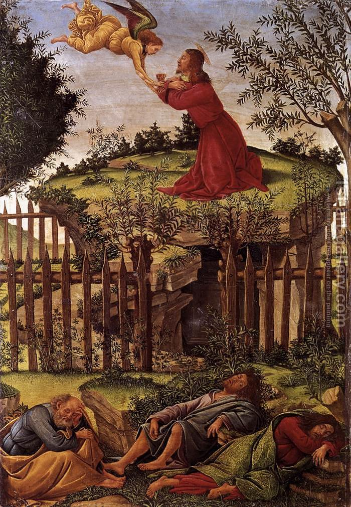 agony in the garden c 1500 by sandro botticelli alessandro filipepi reproduction - Agony In The Garden