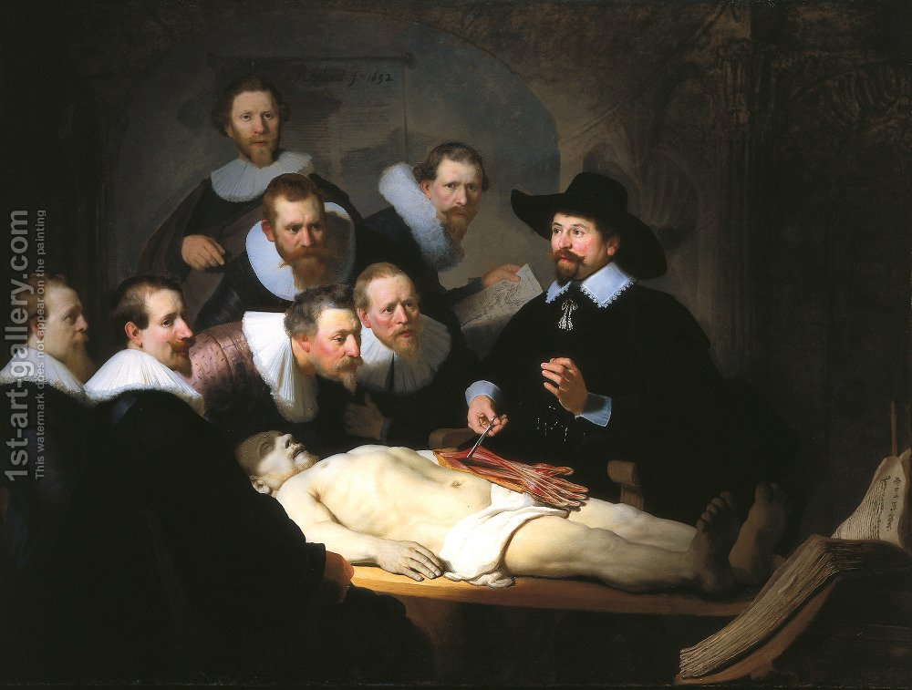 Anatomy Lesson of Dr Tulp Rembrandt Reproduction | 1st Art Gallery