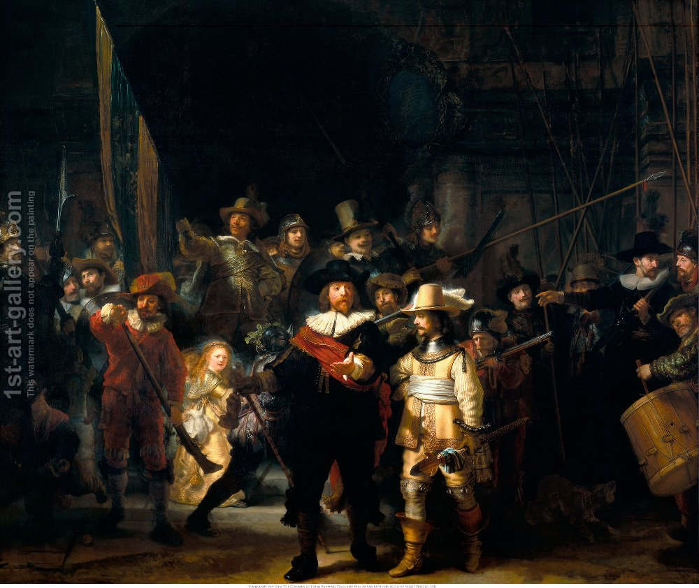 The nightwatch rembrandt reproduction 1st art gallery - Night watch paint color ...
