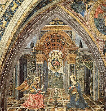 The Annunciation by Bernardino di Betto (Pinturicchio) - Reproduction Oil Painting