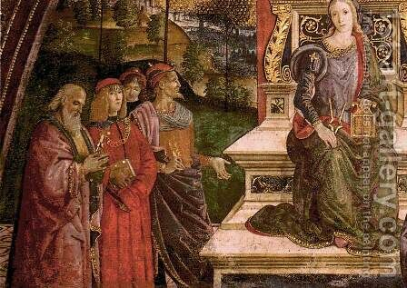 The Arithmetic (lower left view) by Bernardino di Betto (Pinturicchio) - Reproduction Oil Painting