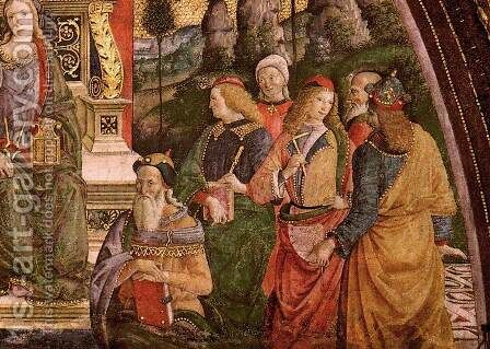 The Arithmetic (lower right view) by Bernardino di Betto (Pinturicchio) - Reproduction Oil Painting