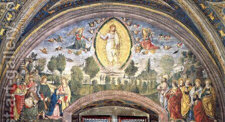 The Ascension by Bernardino di Betto (Pinturicchio) - Reproduction Oil Painting
