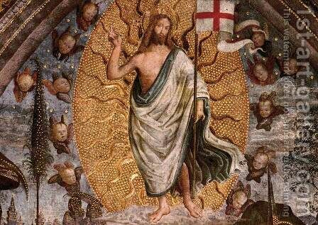 The Resurrection (center view) by Bernardino di Betto (Pinturicchio) - Reproduction Oil Painting