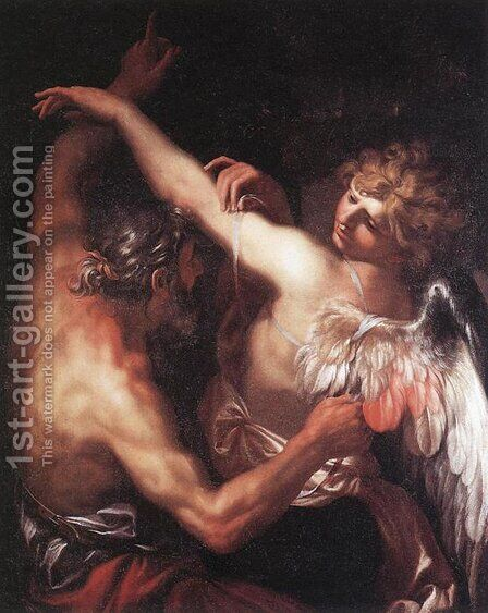 Daedalus and Icarus 1670s by Domenico Piola - Reproduction Oil Painting