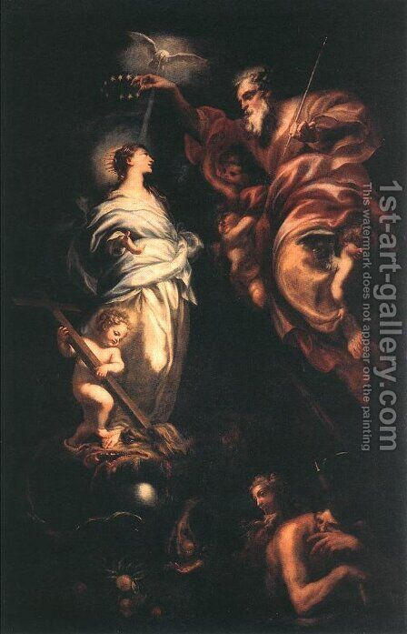 Immaculate Conception 1683 by Domenico Piola - Reproduction Oil Painting