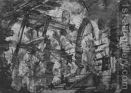 Architectural by Giovanni Battista Piranesi - Reproduction Oil Painting