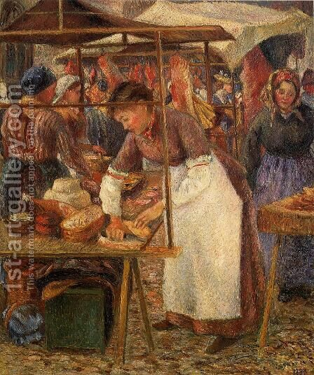 The Pork Butcher  1883 by Camille Pissarro - Reproduction Oil Painting