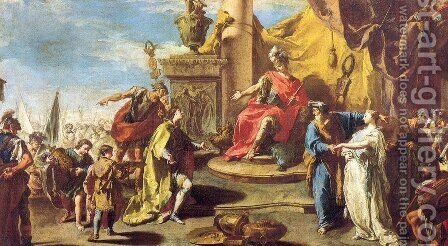 The Continence of Scipio by Giovanni Battista Pittoni the younger - Reproduction Oil Painting