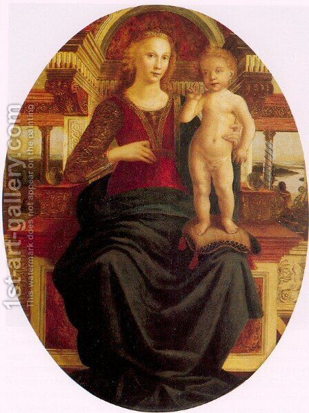 Madonna and Child 1469-70 by Jacopo Pollaiuolo - Reproduction Oil Painting