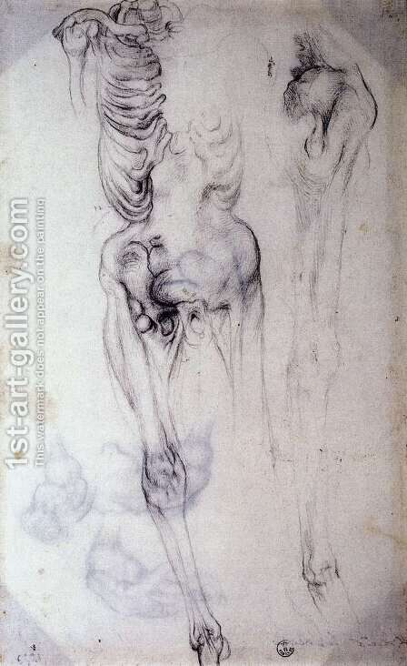Anatomical by (Jacopo Carucci) Pontormo - Reproduction Oil Painting