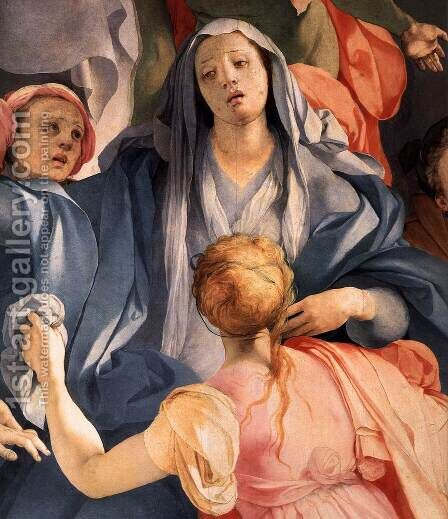 Deposition (detail-2) c. 1528 by (Jacopo Carucci) Pontormo - Reproduction Oil Painting