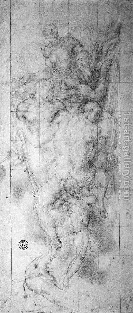 Four Evangelists c. 1550 by (Jacopo Carucci) Pontormo - Reproduction Oil Painting