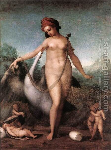 Leda and the Swan 1512-13 by (Jacopo Carucci) Pontormo - Reproduction Oil Painting