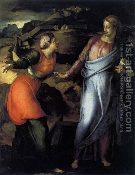Noli Me Tangere 1530s by (Jacopo Carucci) Pontormo - Reproduction Oil Painting