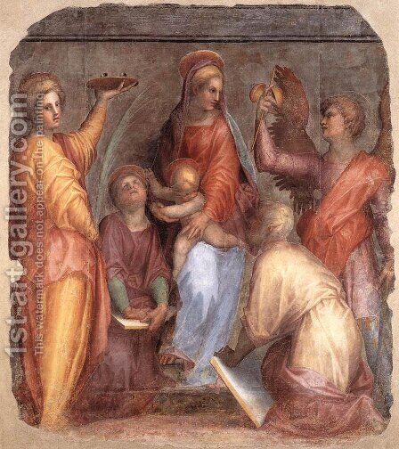 Sacra Conversazione 1514 by (Jacopo Carucci) Pontormo - Reproduction Oil Painting