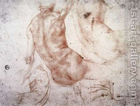 Seated Nude with Raised Arm by (Jacopo Carucci) Pontormo - Reproduction Oil Painting