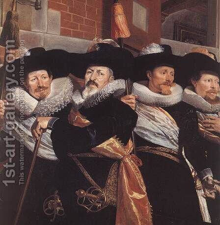 Officers of the Civic Guard of St Adrian (detail) 1630 by Hendrick Gerritsz Pot - Reproduction Oil Painting