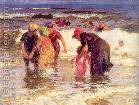The Bathers by Edward Henry Potthast - Reproduction Oil Painting