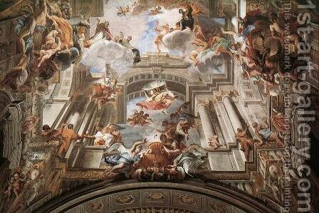 Allegory of the Jesuits' Missionary Work (detail-2) 1691-94 by Andrea Pozzo - Reproduction Oil Painting