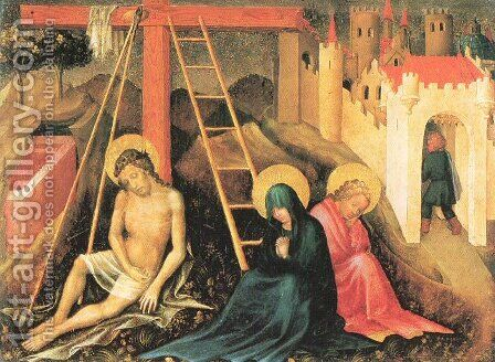 Christ as the Man of Sorrows Beneath the Cross by Master of the Presentation - Reproduction Oil Painting