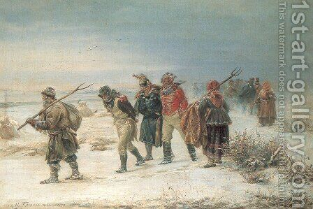 In 1812,   1873 by Illarion Mikhailovich Prianishnikov - Reproduction Oil Painting