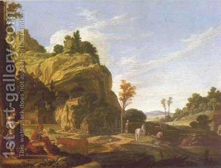 Landscape with Mercury and Battus 1618 by Jacob Pynas - Reproduction Oil Painting