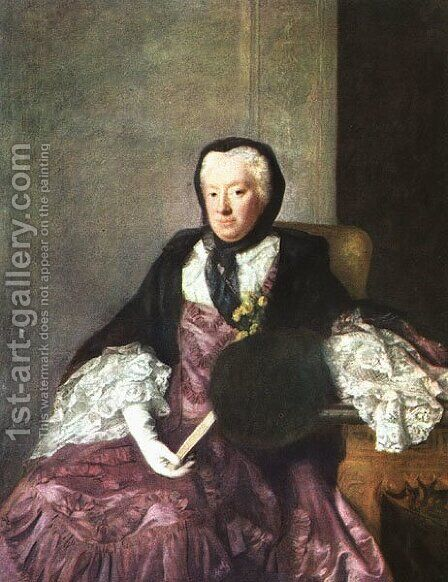 Mrs. Martin 1761 by Allan Ramsay - Reproduction Oil Painting