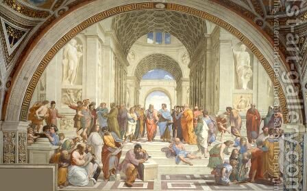 The School of Athens (from the Stanza della Segnatura) 1510-11 by Raphael - Reproduction Oil Painting