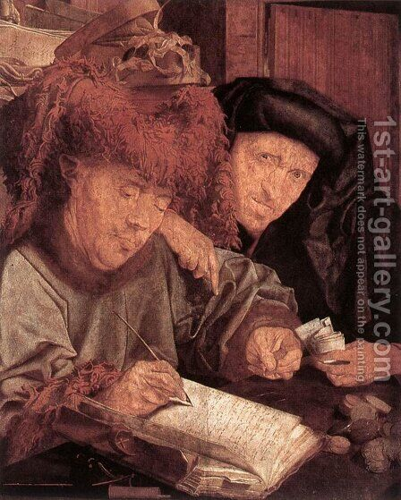 The Tax Collectors by Marinus van Reymerswaele - Reproduction Oil Painting