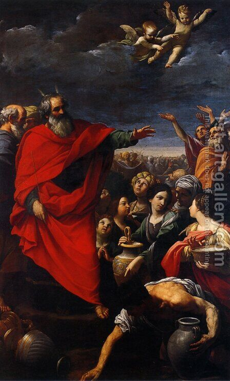 The Gathering of the Manna 1614-15 by Guido Reni - Reproduction Oil Painting